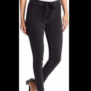 Free People High-Rise Lace-Up Skinny Jean 31